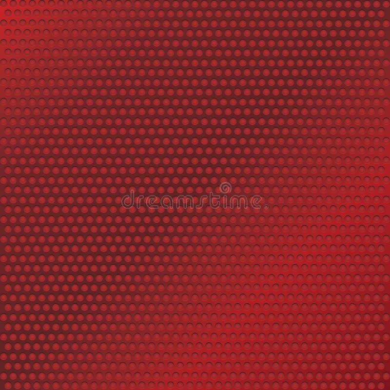 Textura perfurada do metal vermelho ilustração royalty free