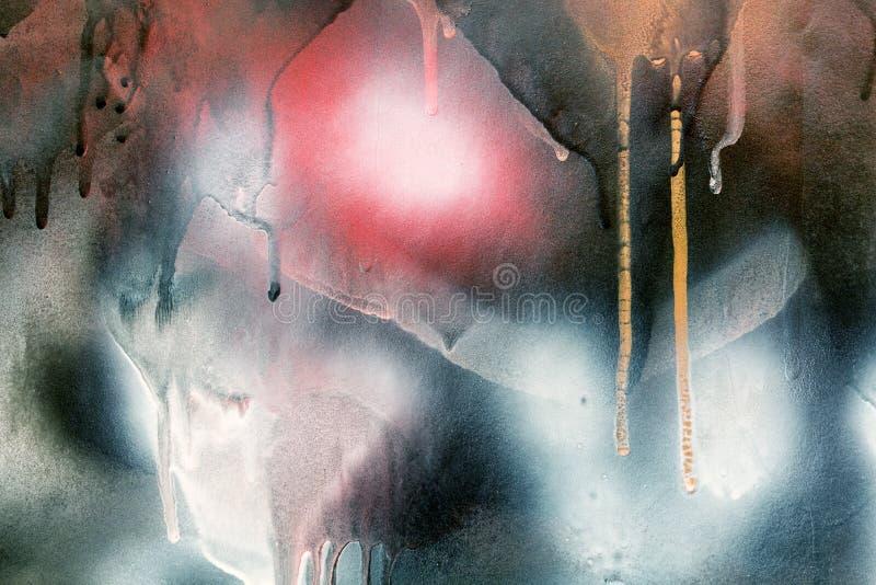 Textura pintada colorida abstracta en la pared Fondo para el diseño foto de archivo libre de regalías
