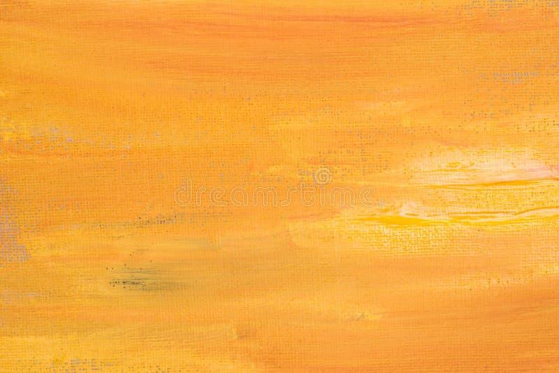 Textura pintada extracto anaranjado en el fondo de papel fotos de archivo libres de regalías