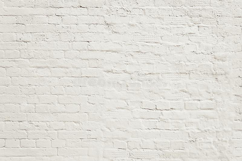 Textura pintada viejo blanco del fondo de la pared de ladrillo foto de archivo