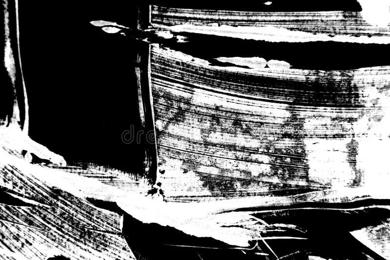 Textura pintado à mão preto e branco do fundo fotografia de stock