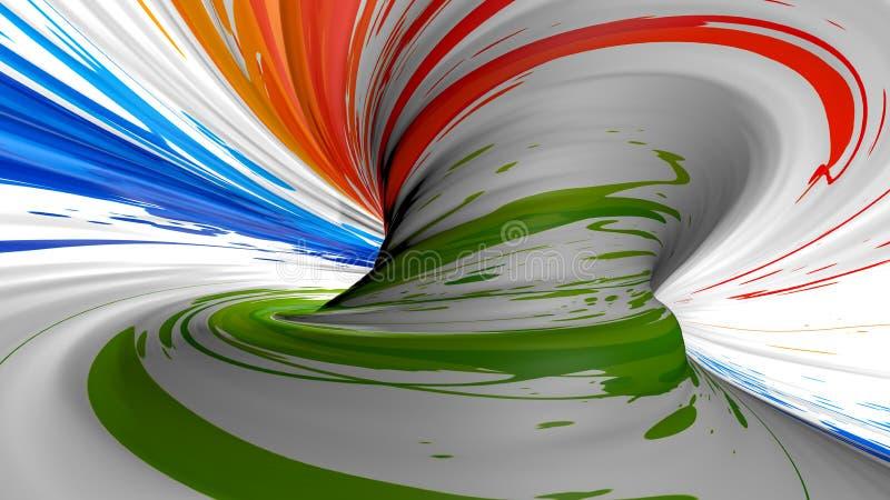 Textura plástica abstracta, textura del plástico del color de la onda, fondo del color de la onda, modelo rayado ondulado colorid imagen de archivo libre de regalías