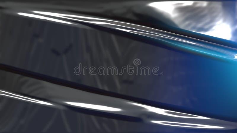 Textura plástica negra y azul stock de ilustración