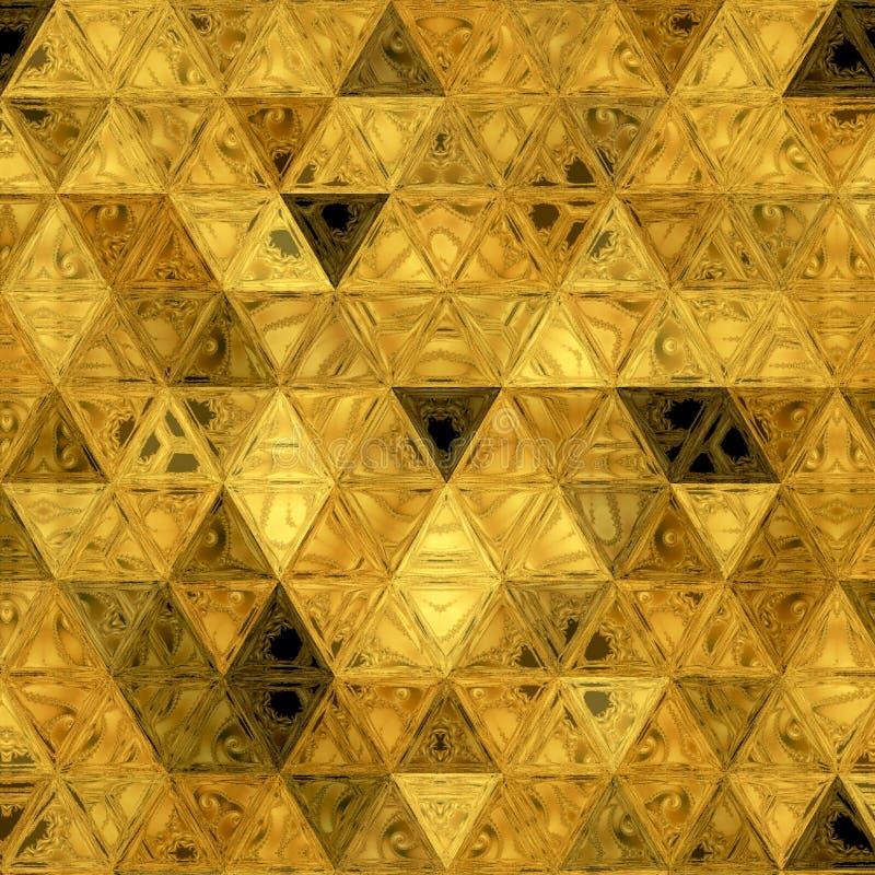 Textura poligonal brillante de oro de la superficie del remiendo fotografía de archivo libre de regalías
