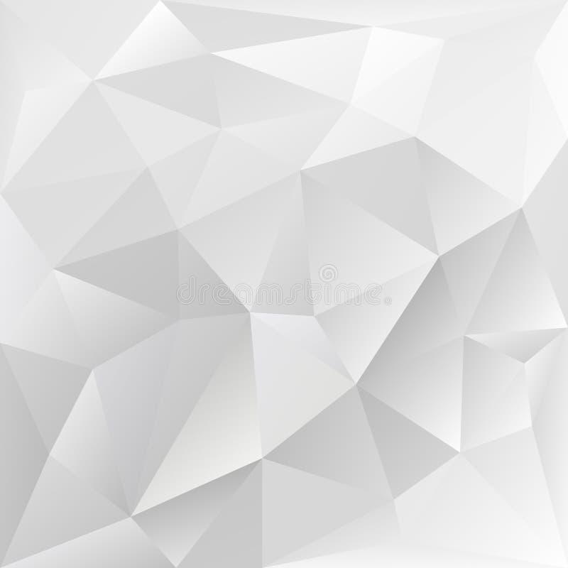 Textura poligonal cinzenta, fundo corporativo ilustração royalty free
