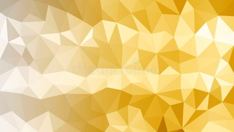 Textura poligonal dourada brilhante do sumário ilustração royalty free