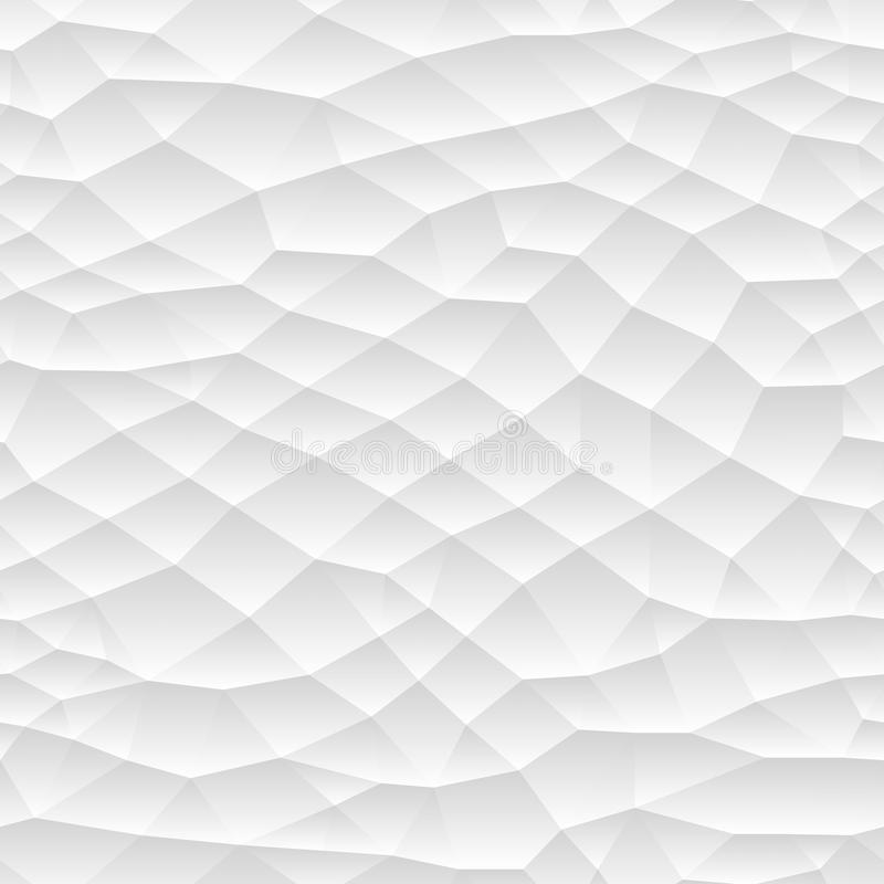 Textura poligonal inconsútil de la pendiente del mosaico Diseño repetidor blanco y gris stock de ilustración