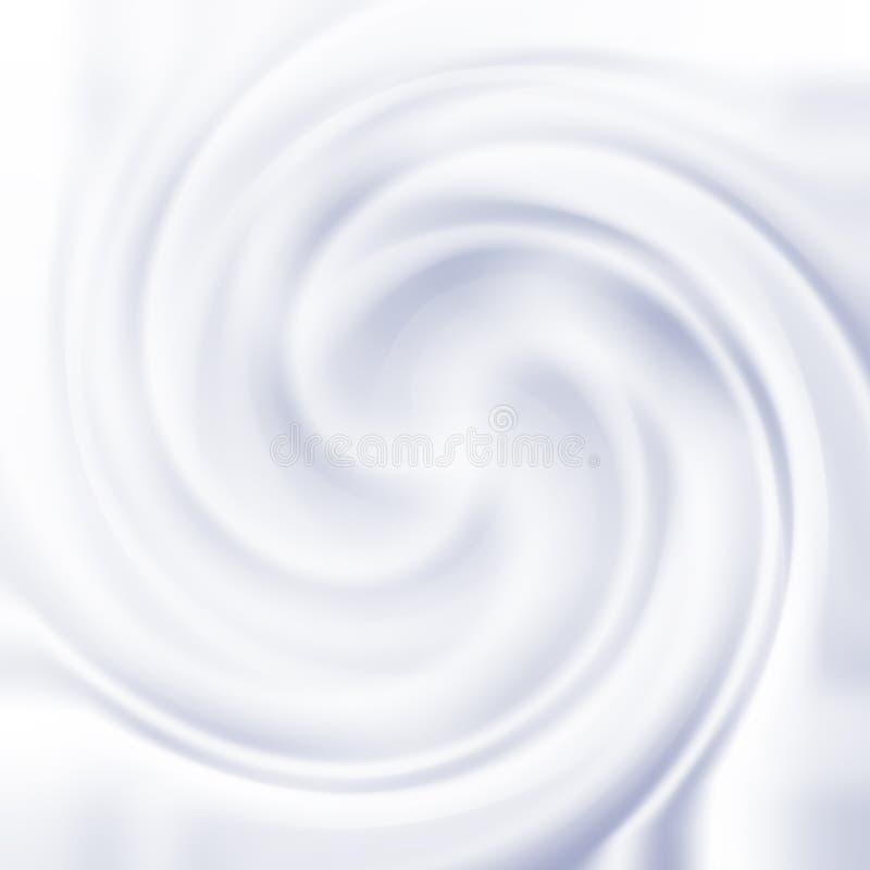 Textura poner crema del remolino stock de ilustración
