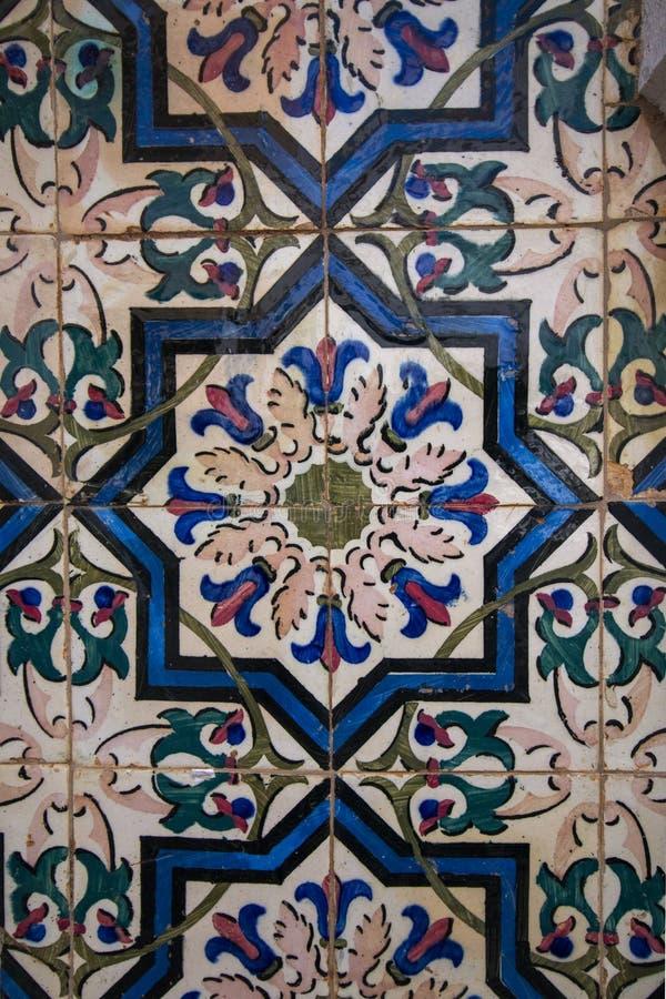 Textura portuguesa del azulejo fotos de archivo