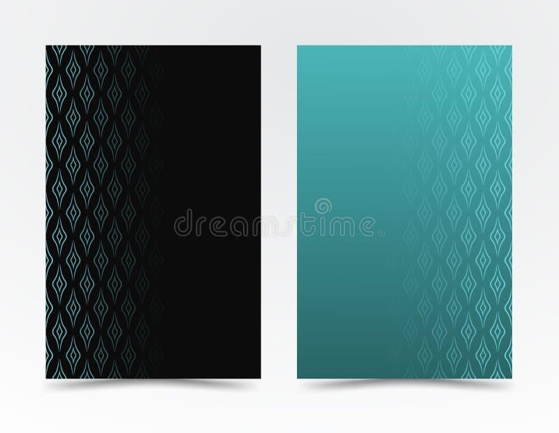 Textura preta, branca teste padrão geométrico no estilo minimalista linhas onduladas isoladas no fundo azul, preto Fundo do vetor ilustração do vetor