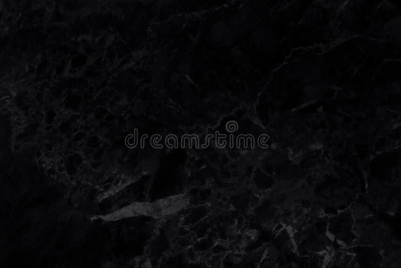 Textura preta da parede do mármore do fundo para o trabalho de arte do projeto, o teste padrão sem emenda da pedra da telha com b foto de stock royalty free