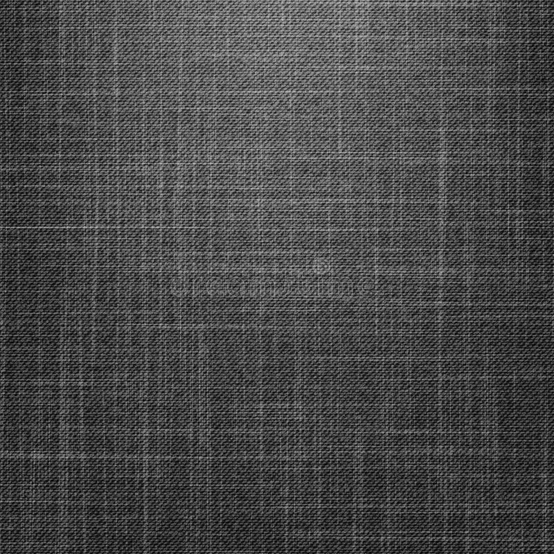 Textura preta das calças de brim ilustração stock