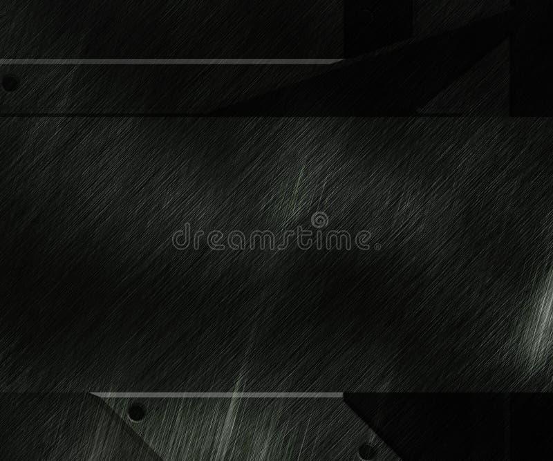 Textura preta do fundo do metal ilustração do vetor