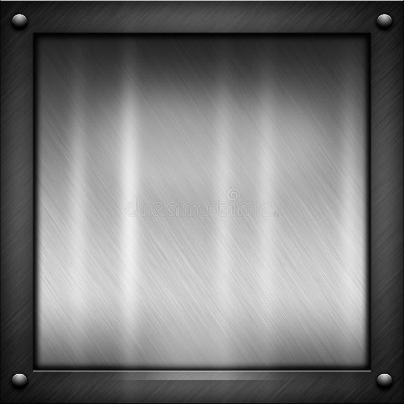 Textura preta do metal ilustração stock