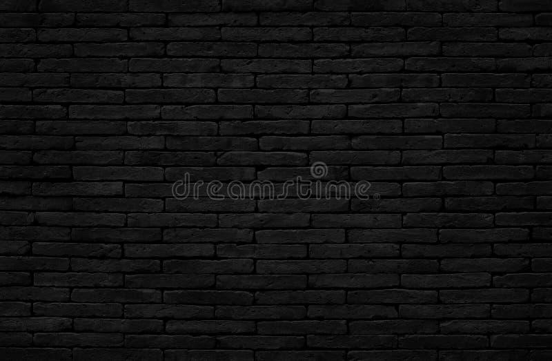 Textura preta escura velha da parede de tijolo com estilo do vintage para o trabalho de arte do fundo e do projeto foto de stock