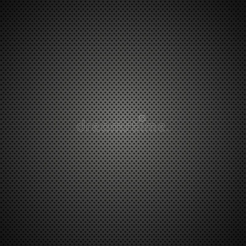 Textura preta moderna da grade do metal do vetor ilustração stock