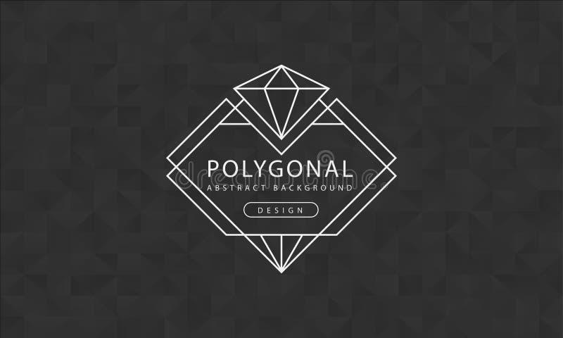 Textura preta poligonal do fundo do sumário, textured preto, fundos do polígono da bandeira, ilustração do vetor ilustração do vetor