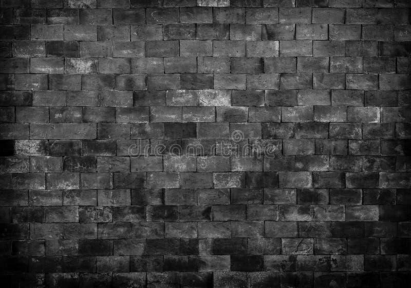 Textura preto e branco da parede de tijolo para o fundo foto de stock royalty free