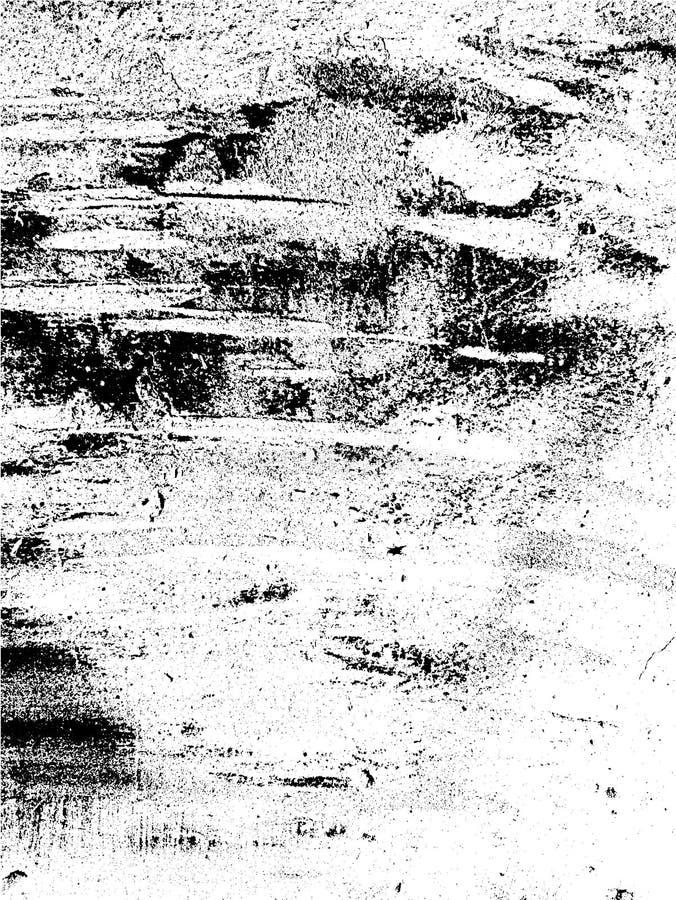 Textura preto e branco do fundo da folha de prova do vetor do metal da oxidação ilustração stock