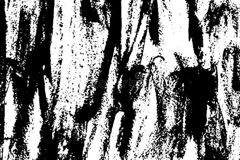 A textura preto e branco do Grunge para cria o efeito abstrato riscado, do vintage com o ruído e a grão Técnica feito a mão ilustração stock