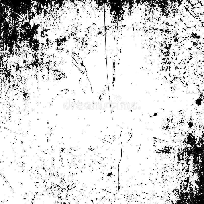 Textura preto e branco do grunge realístico do vetor ilustração royalty free