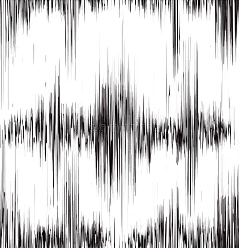 Textura preto e branco sem emenda com som da vibração ilustração royalty free