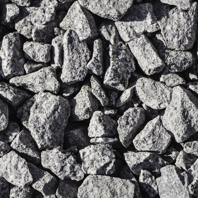 A textura quadrada bonita da pedra quebrada cinzenta pode ser usada para o teste padrão sem emenda imagens de stock royalty free