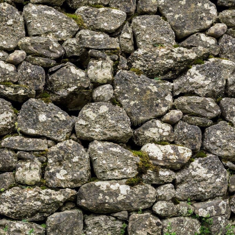 Textura quadrada da parede de pedra natural fotos de stock royalty free