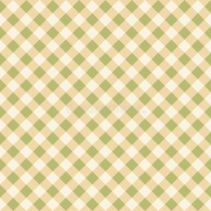 Textura quadriculado do fundo do teste padrão da tela do verde sem emenda do pistache ilustração stock