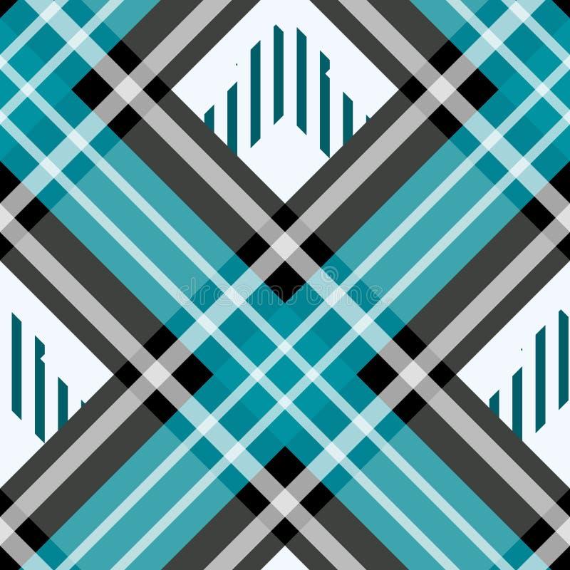 Textura quadriculado tradicional da tela do teste padrão sem emenda da manta de tartã ilustração do vetor