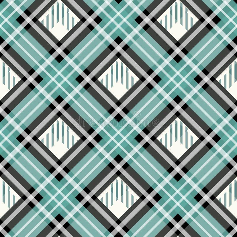 Textura quadriculado tradicional eps10 da tela do teste padrão sem emenda da manta de tartã ilustração royalty free