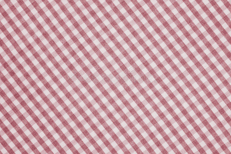 Textura quadriculado vermelha e branca do fundo da tela fotografia de stock