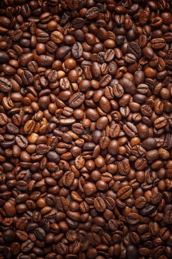 Textura que derrama feijões de café Vista superior Copie o espa?o imagem de stock