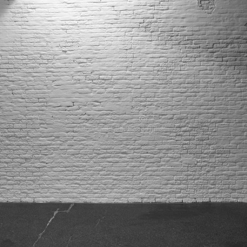 Textura rústica blanca de la pared de ladrillo Estructura usada retra del vintage Fondo blanco lamentable sucio Elemento del dise fotografía de archivo libre de regalías