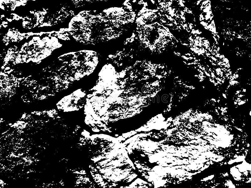 Textura rústica oscura de la pared de piedra Superficie de pavimentación resistida de la piedra Pared obsoleta de la fortaleza libre illustration