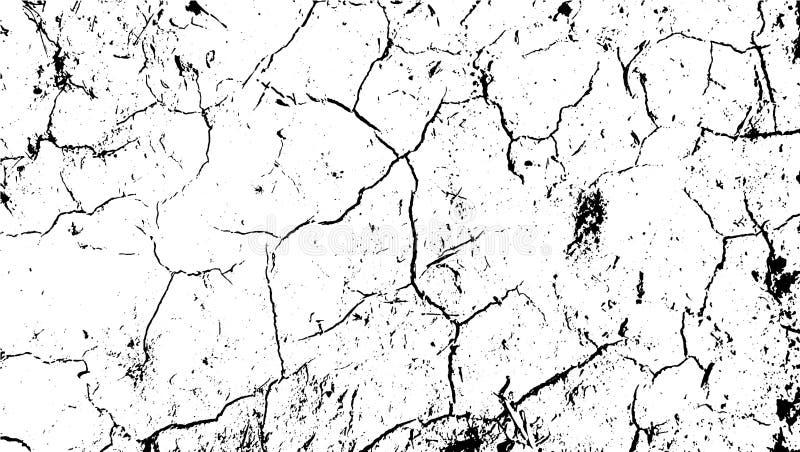 Textura rachada do deserto da terra Terra rachada, fundo abstrato do vetor da textura do deserto Riscos em terra rachada ilustração stock