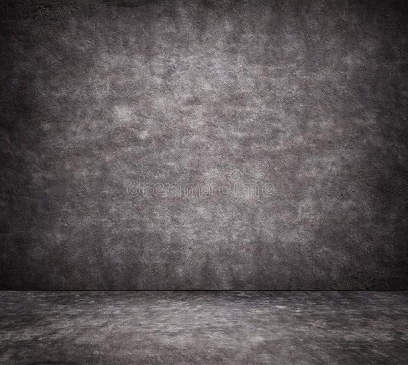 Textura rachada preta do muro de cimento com passeio foto de stock