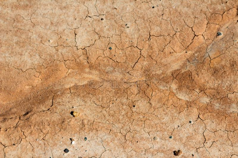 Textura rachada seca da argila foto de stock