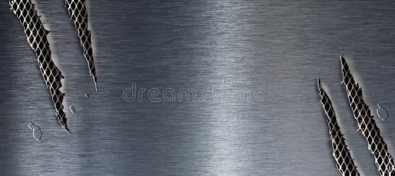 Textura rasgada del metal fotos de archivo libres de regalías