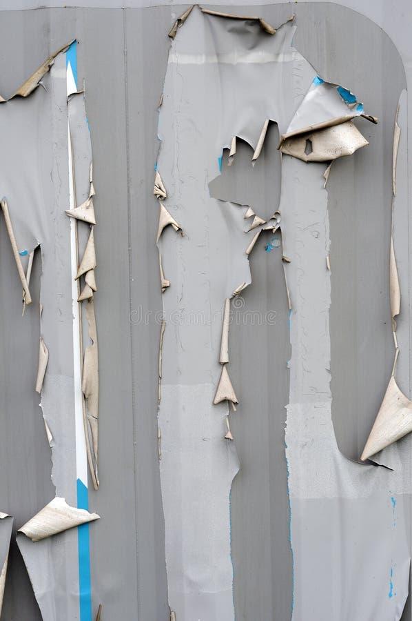 Textura rasgada rasgada del metal fotografía de archivo
