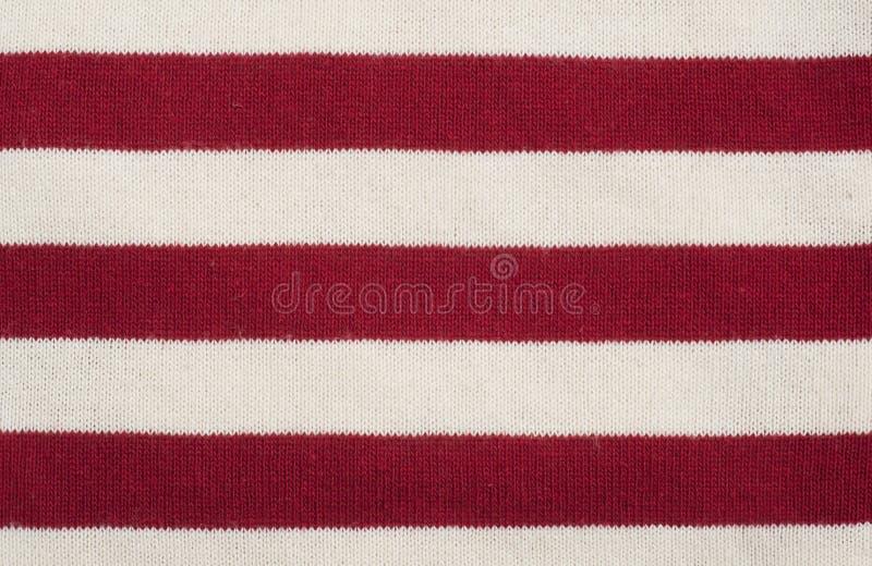 Textura Rayada Roja Y Blanca De La Tela Imagen De Archivo