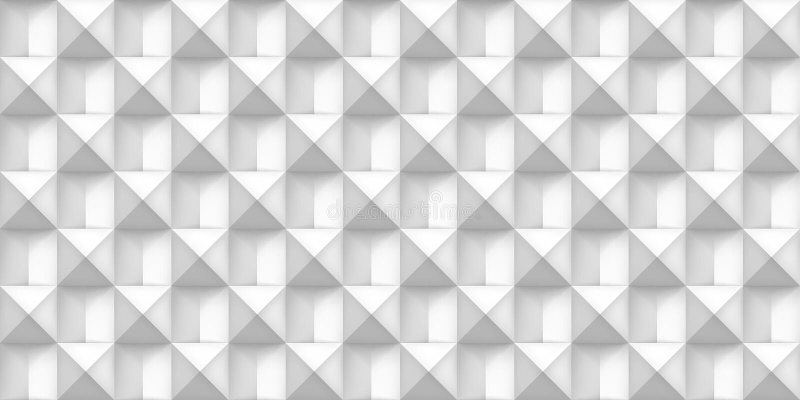 Textura realística branca do volume, cubos, 3d teste padrão sem emenda geométrico cinzento, fundo da luz do vetor do projeto ilustração do vetor