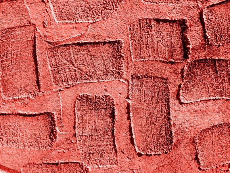 Textura real del fondo del yeso con áreas de depresiones rectangulares imagenes de archivo