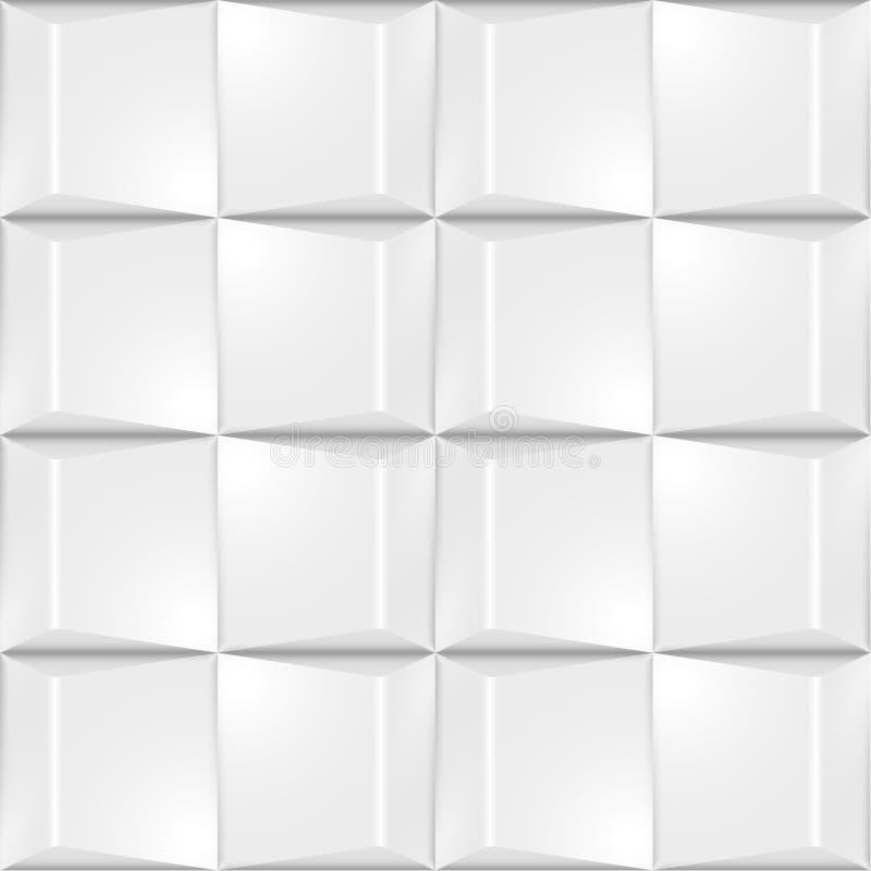 Textura real?stica do volume, teste padr?o geom?trico dos quadrados cinzentos dos cubos 3d ilustração stock