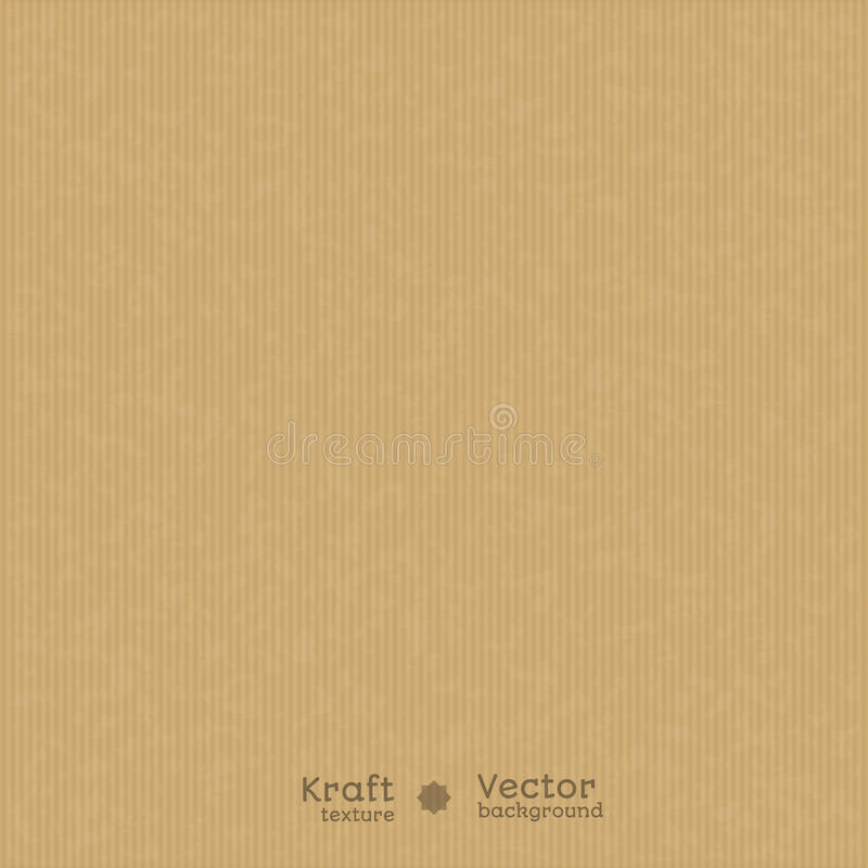 Textura realista de Kraft ilustración del vector