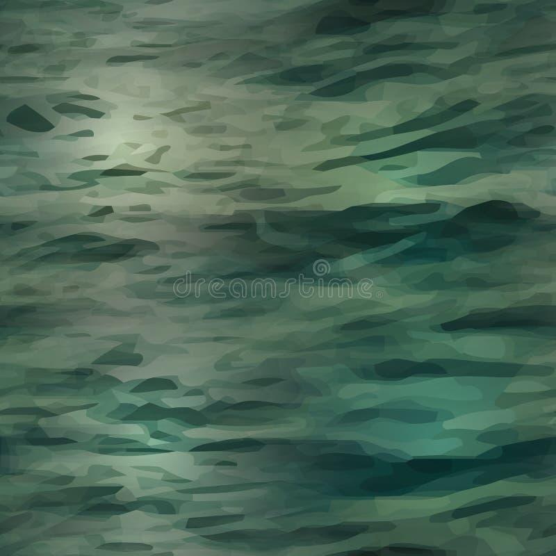 Textura realista del agua Modelo inconsútil ilustración del vector