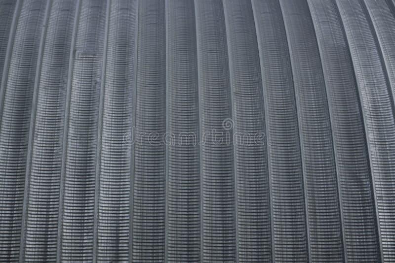 Textura redonda do hangar do telhado do metal imagem de stock