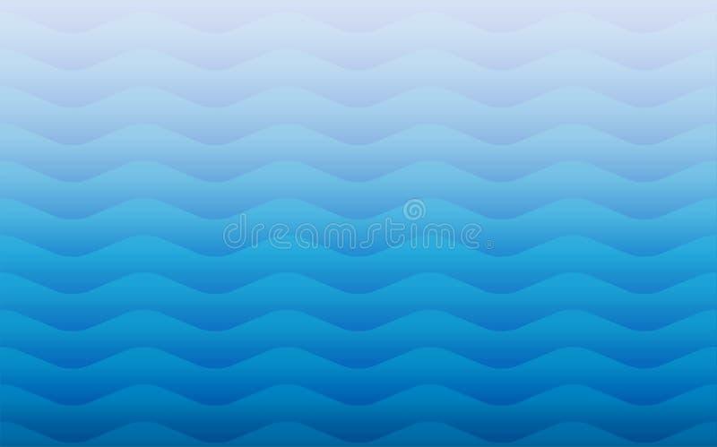 Textura repetidor inconsútil geométrica del modelo del vector de las ondas de agua libre illustration