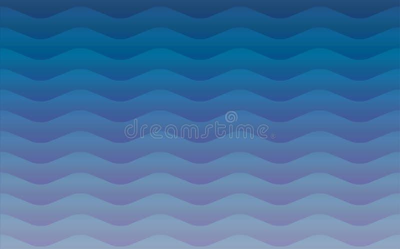 Textura repetitiva sem emenda geométrica do teste padrão das ondas de água ilustração stock
