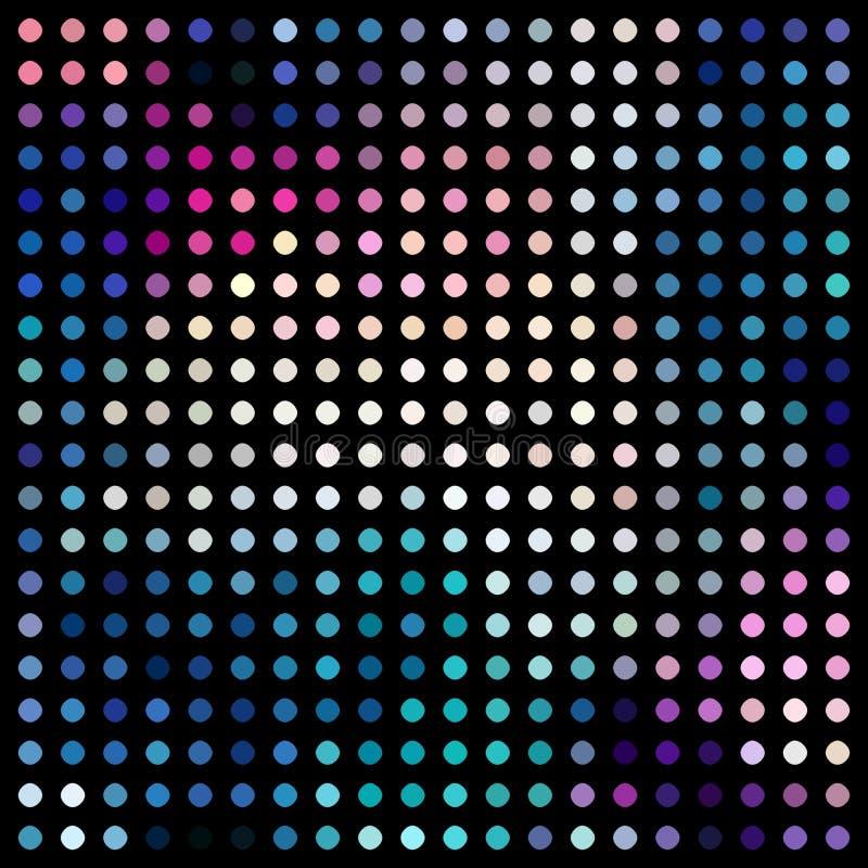 Textura retra del extracto del mosaico del disco Modelo de puntos verde azul del rosa stock de ilustración